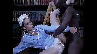 Sexy white maid bothered and fucked by a black