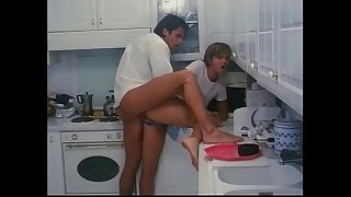 Italian vintage porn: fucked in the kitchen!